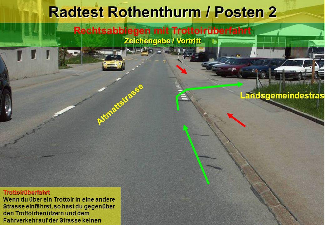 Radtest Rothenthurm / Posten 2