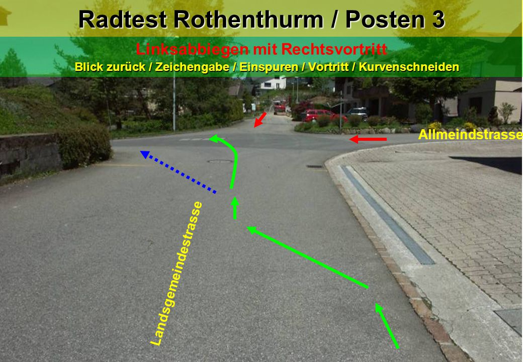 Radtest Rothenthurm / Posten 3