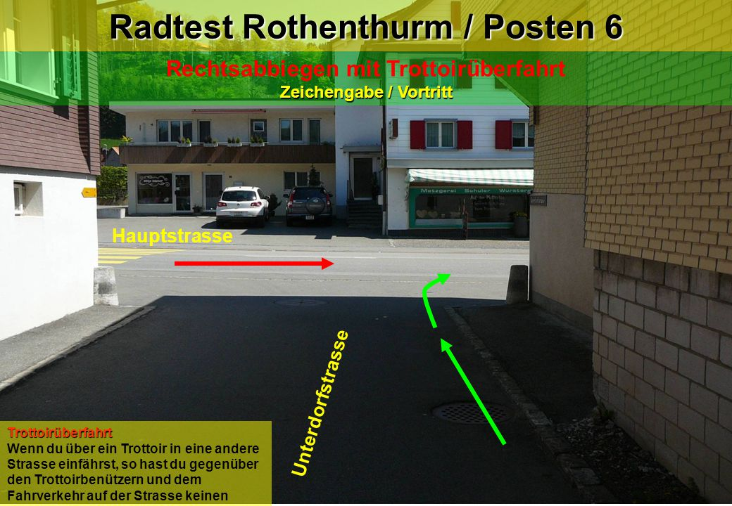 Radtest Rothenthurm / Posten 6