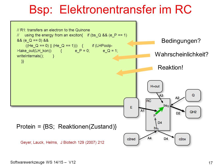 Bsp: Elektronentransfer im RC