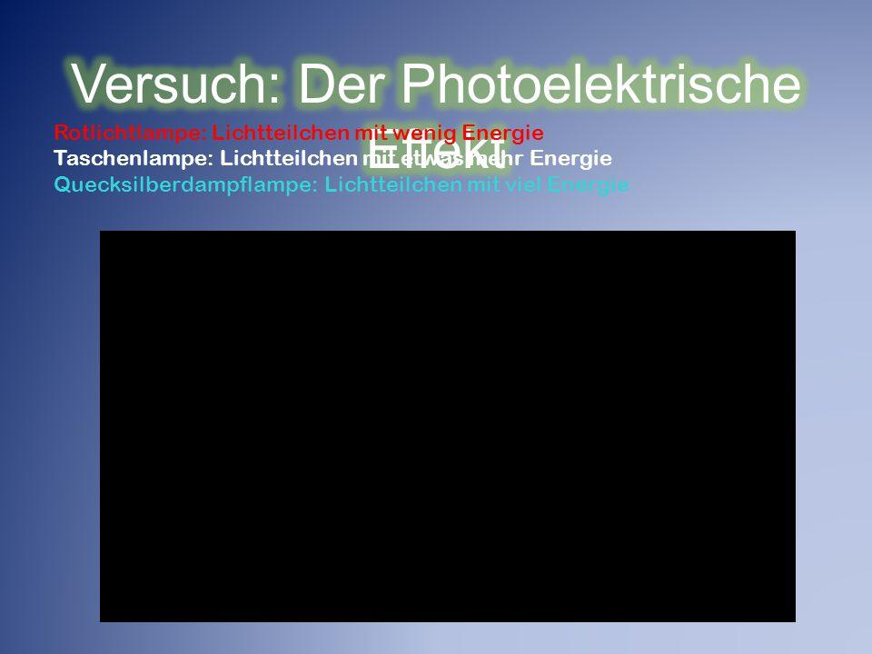Versuch: Der Photoelektrische Effekt
