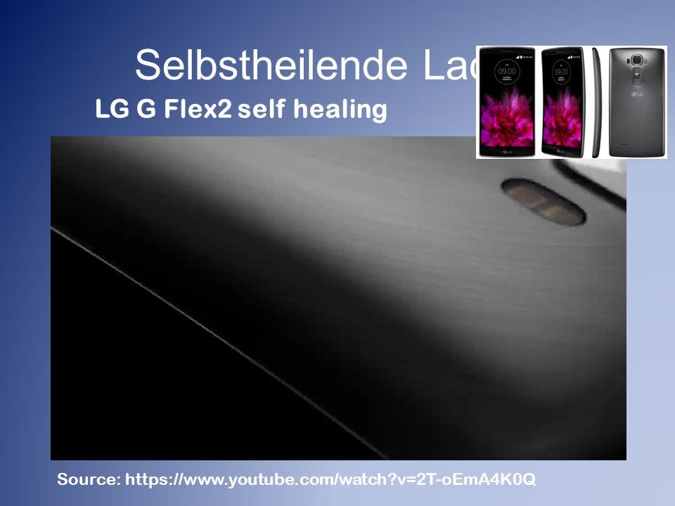 Selbstheilende Lacke LG G Flex2 self healing
