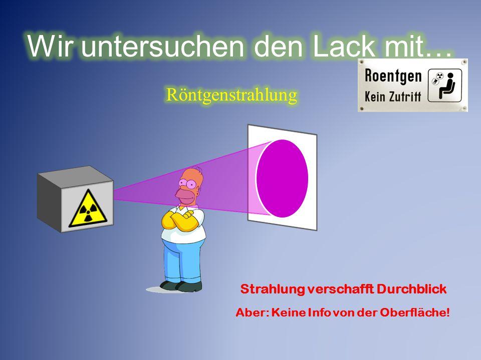 Strahlung verschafft Durchblick Aber: Keine Info von der Oberfläche!