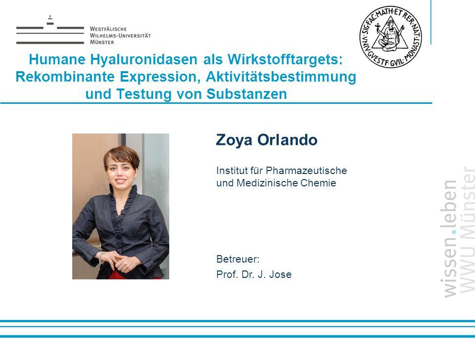 Humane Hyaluronidasen als Wirkstofftargets: Rekombinante Expression, Aktivitätsbestimmung und Testung von Substanzen