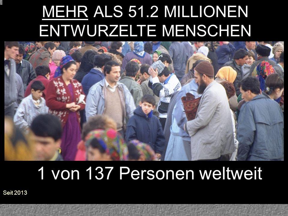 MEHR ALS 51.2 MILLIONEN ENTWURZELTE MENSCHEN