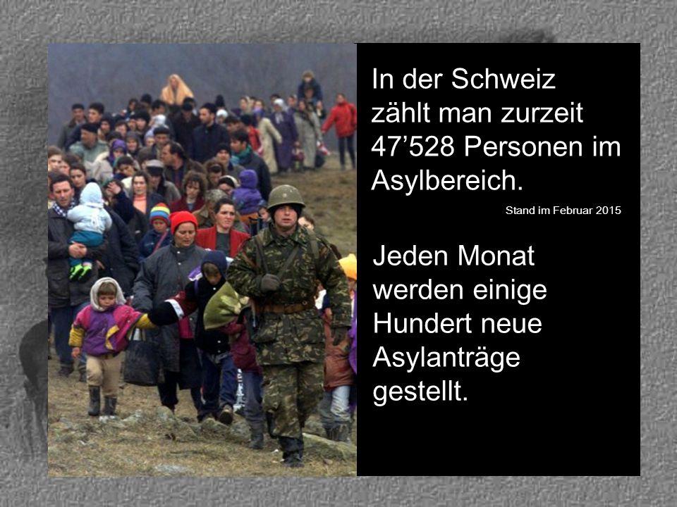 In der Schweiz zählt man zurzeit 47'528 Personen im Asylbereich.