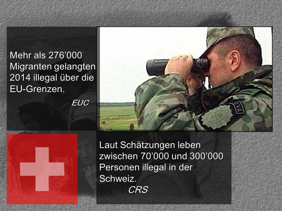 Mehr als 276'000 Migranten gelangten 2014 illegal über die EU-Grenzen.