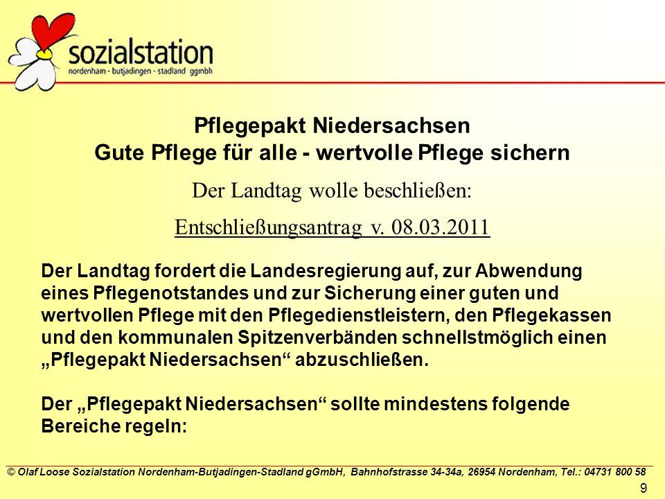Pflegepakt Niedersachsen