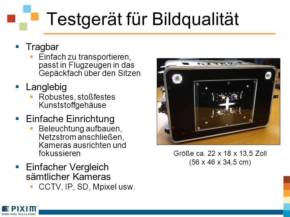 Testgerät für Bildqualität