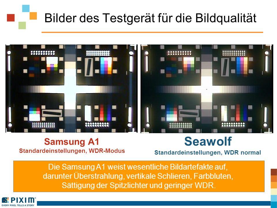 Bilder des Testgerät für die Bildqualität