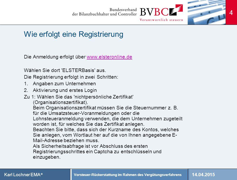 Wie erfolgt eine Registrierung