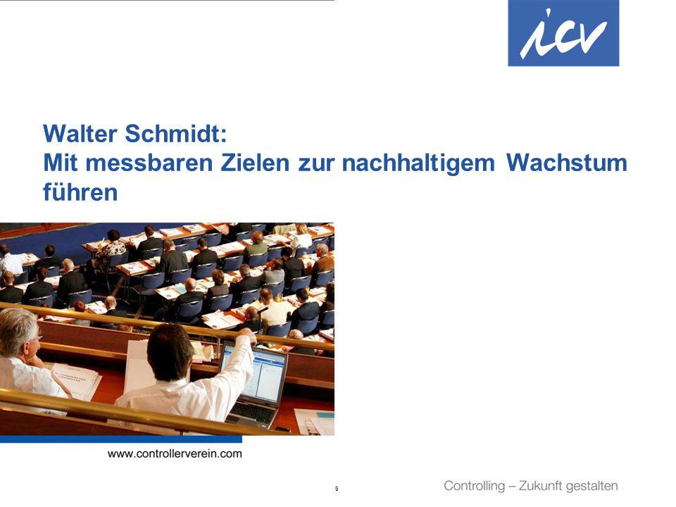 Walter Schmidt: Mit messbaren Zielen zur nachhaltigem Wachstum führen
