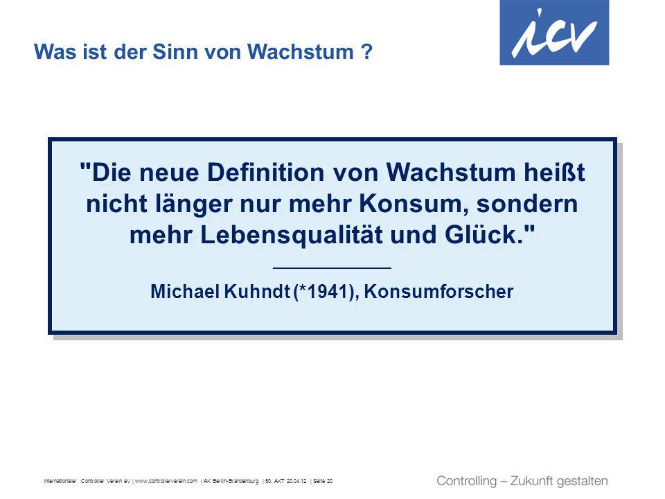 Michael Kuhndt (*1941), Konsumforscher