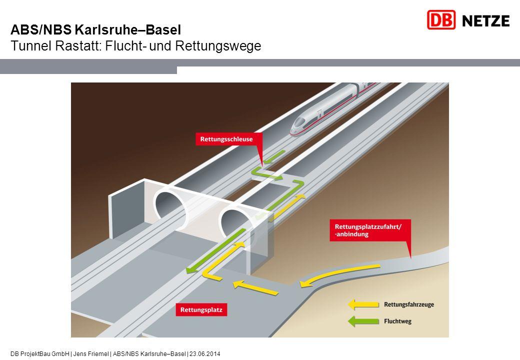 ABS/NBS Karlsruhe–Basel Tunnel Rastatt: Flucht- und Rettungswege