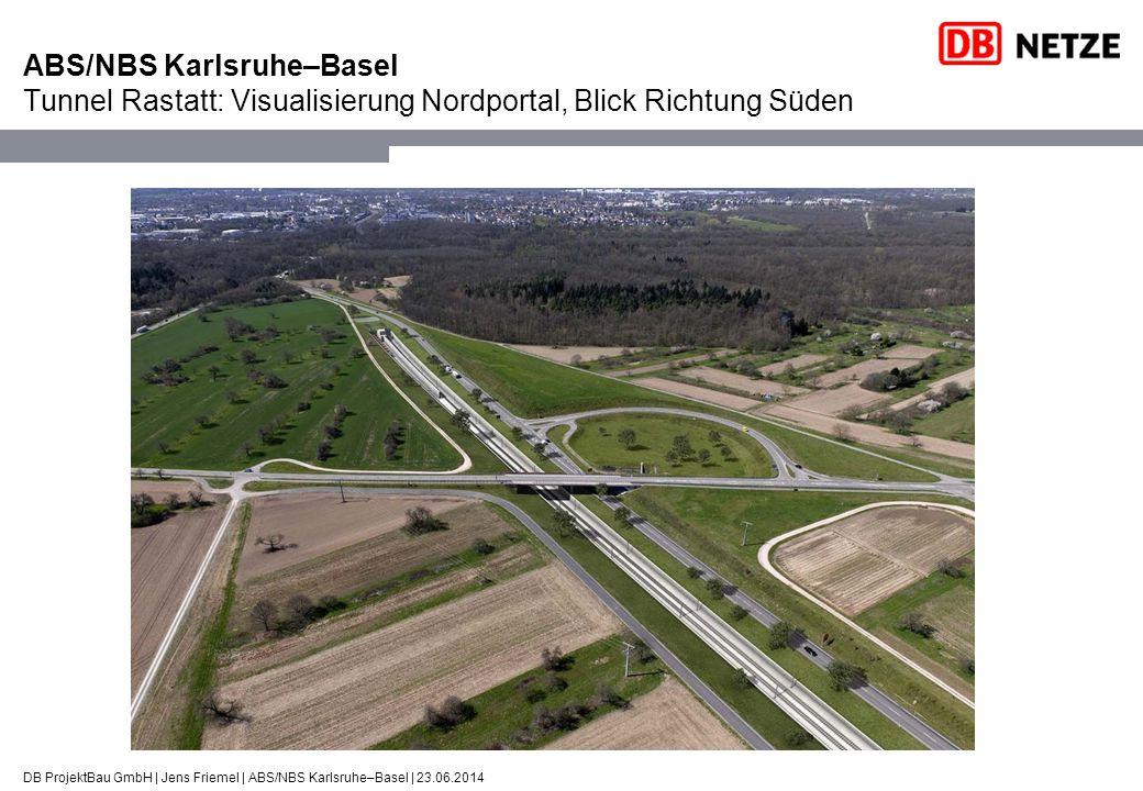 ABS/NBS Karlsruhe–Basel Tunnel Rastatt: Visualisierung Nordportal, Blick Richtung Süden