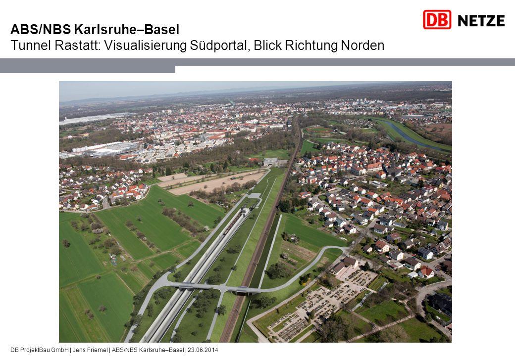 ABS/NBS Karlsruhe–Basel Tunnel Rastatt: Visualisierung Südportal, Blick Richtung Norden