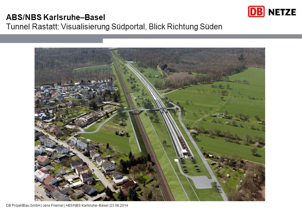 ABS/NBS Karlsruhe–Basel Tunnel Rastatt: Visualisierung Südportal, Blick Richtung Süden