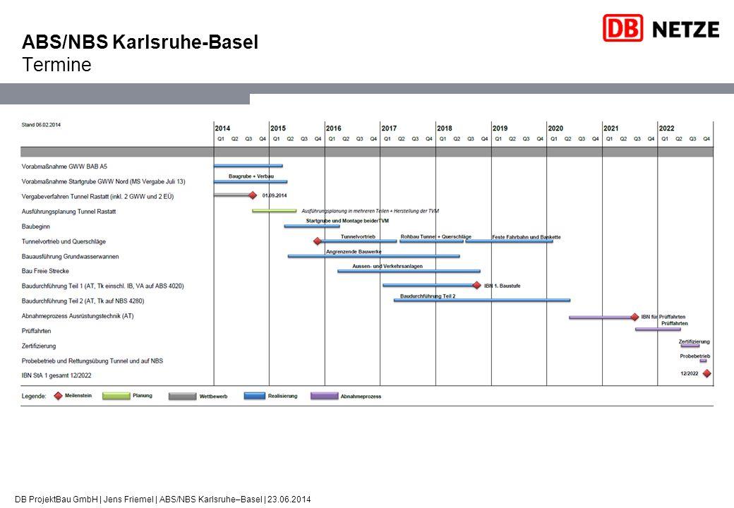 ABS/NBS Karlsruhe-Basel Termine