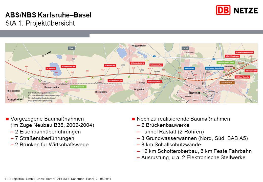 ABS/NBS Karlsruhe–Basel StA 1: Projektübersicht