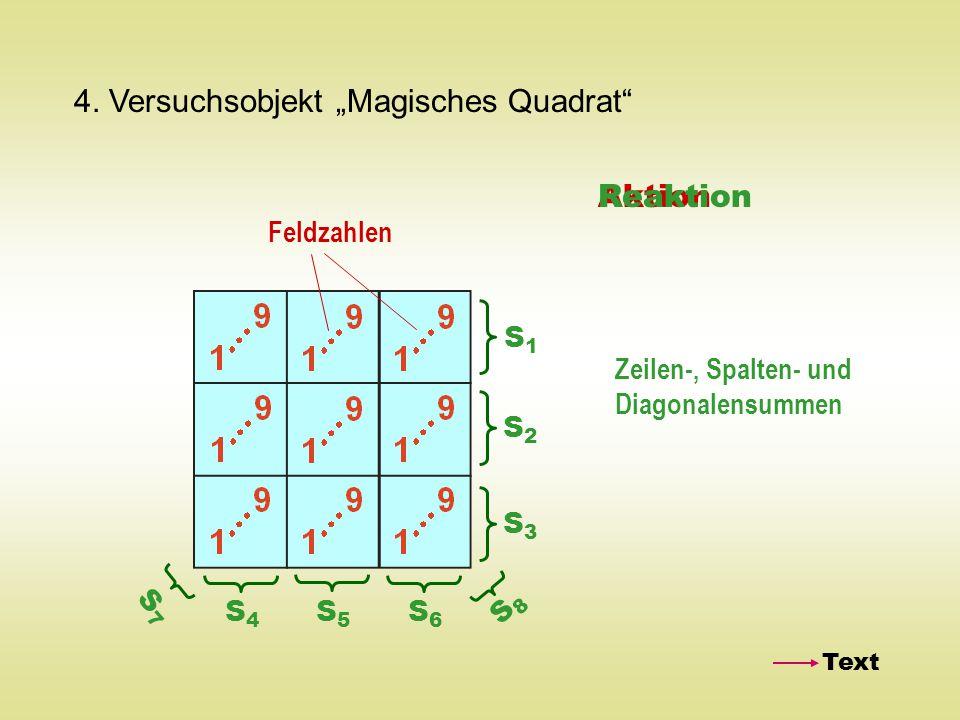 "4. Versuchsobjekt ""Magisches Quadrat"