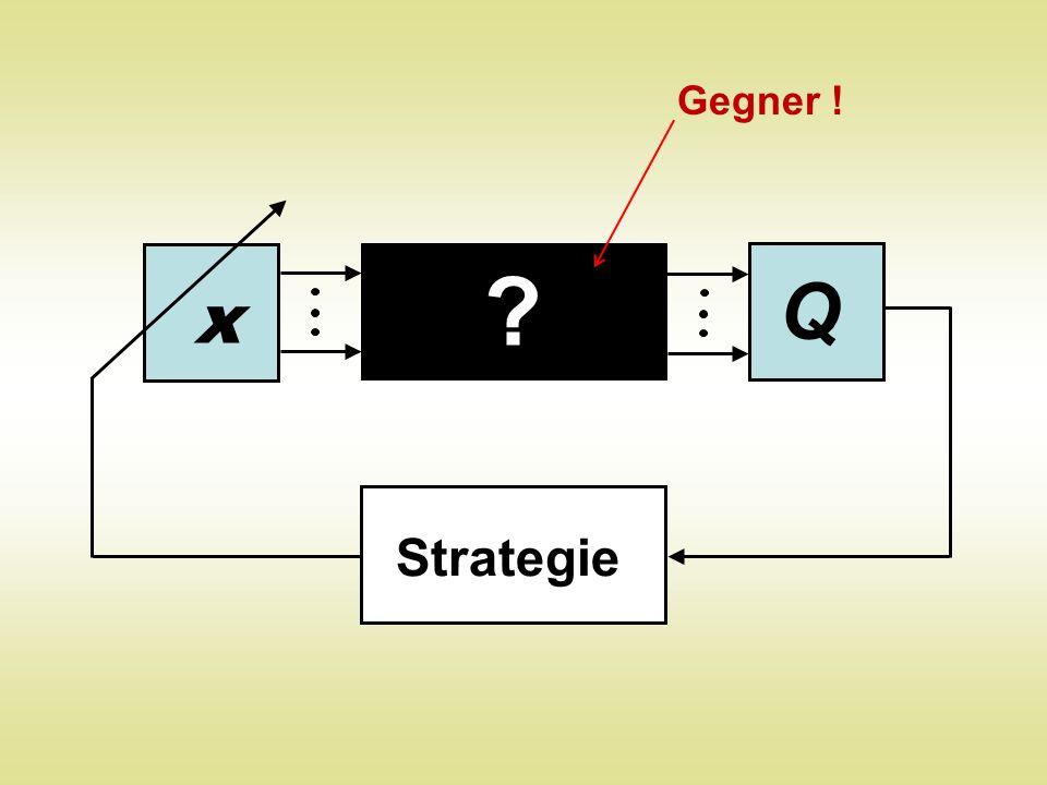 Gegner ! Q x Strategie