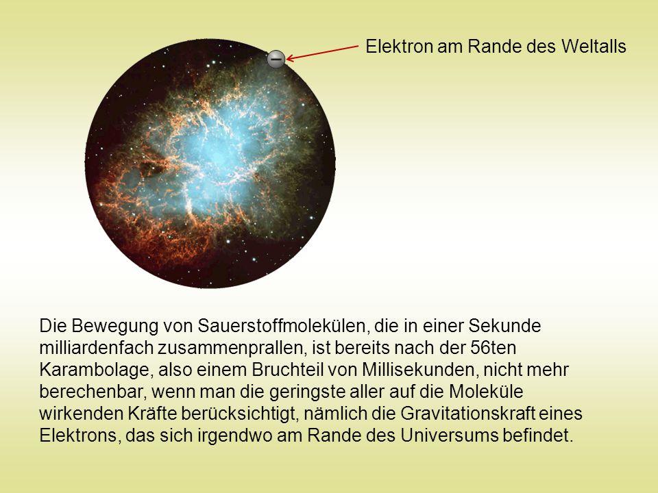 Elektron am Rande des Weltalls