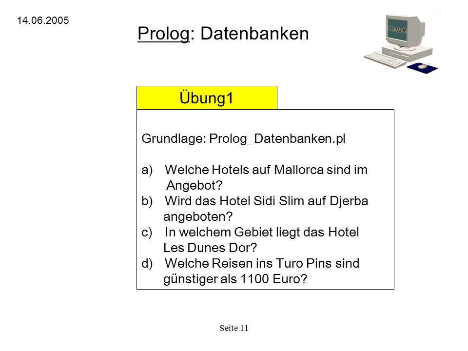 Prolog: Datenbanken Übung1 Grundlage: Prolog_Datenbanken.pl