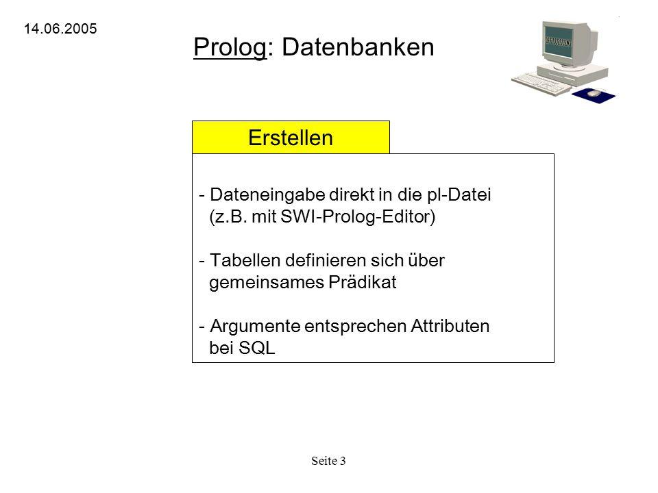 Prolog: Datenbanken Erstellen Dateneingabe direkt in die pl-Datei