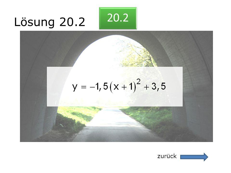 Lösung 20.2 20.2 zurück