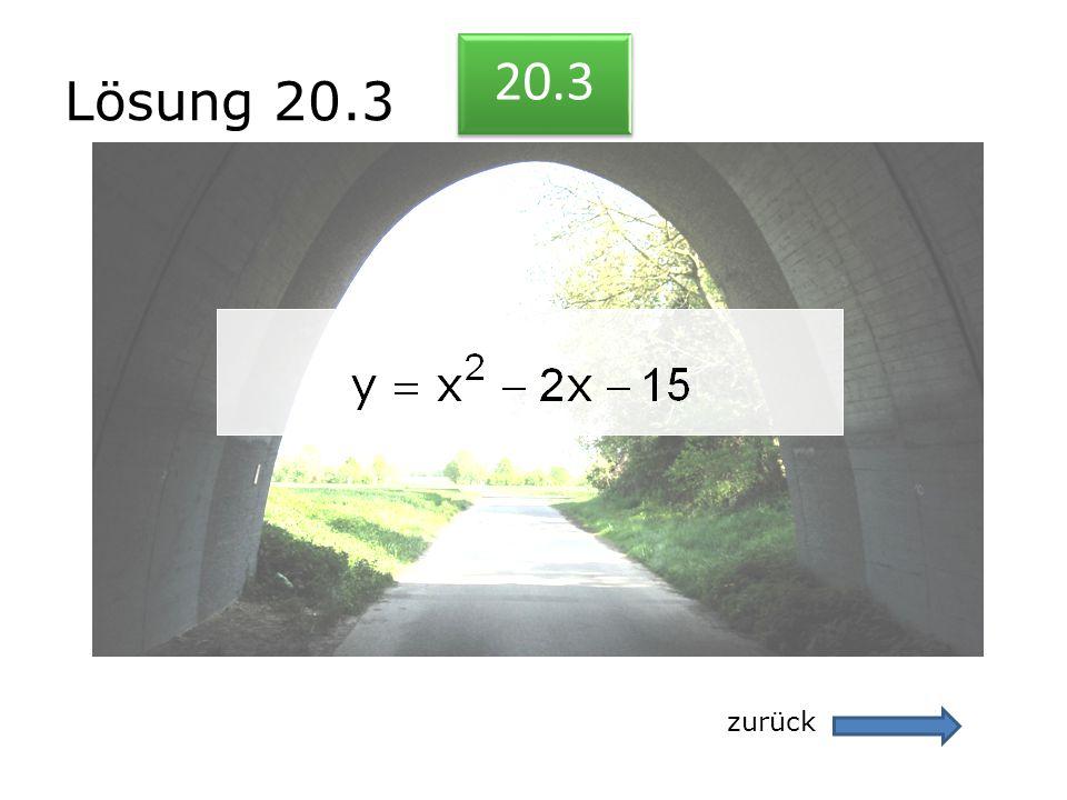 Lösung 20.3 20.3 zurück