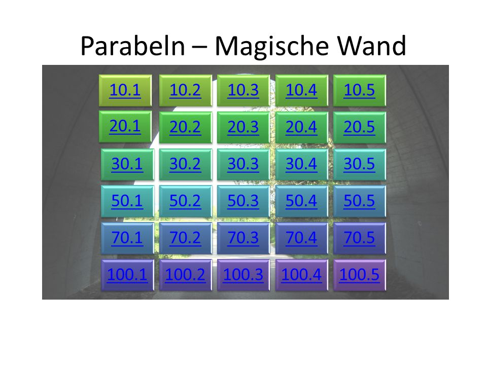 Parabeln – Magische Wand