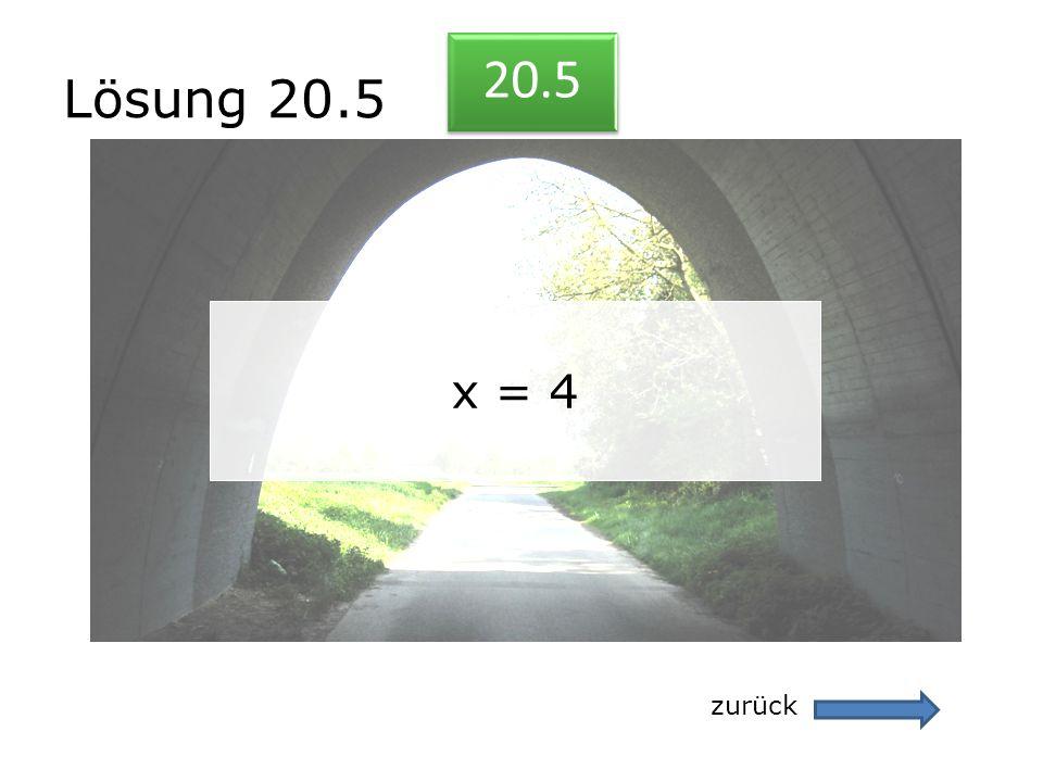Lösung 20.5 20.5 x = 4 zurück