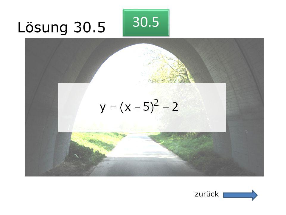Lösung 30.5 30.5 zurück