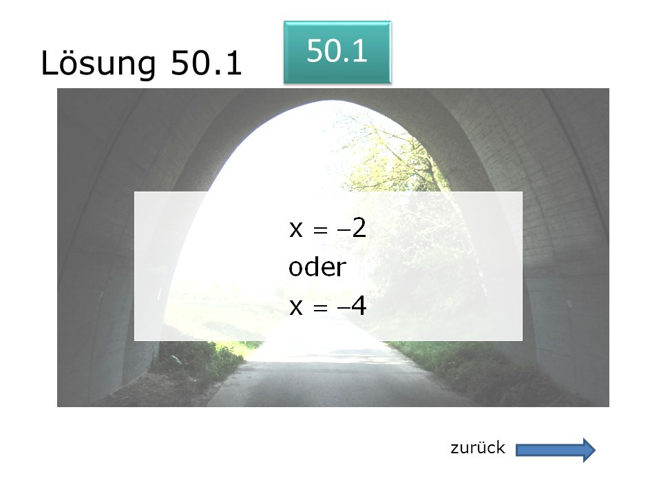 Lösung 50.1 50.1 zurück