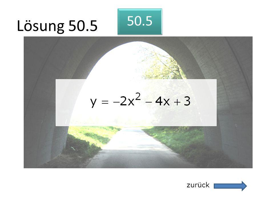 Lösung 50.5 50.5 zurück