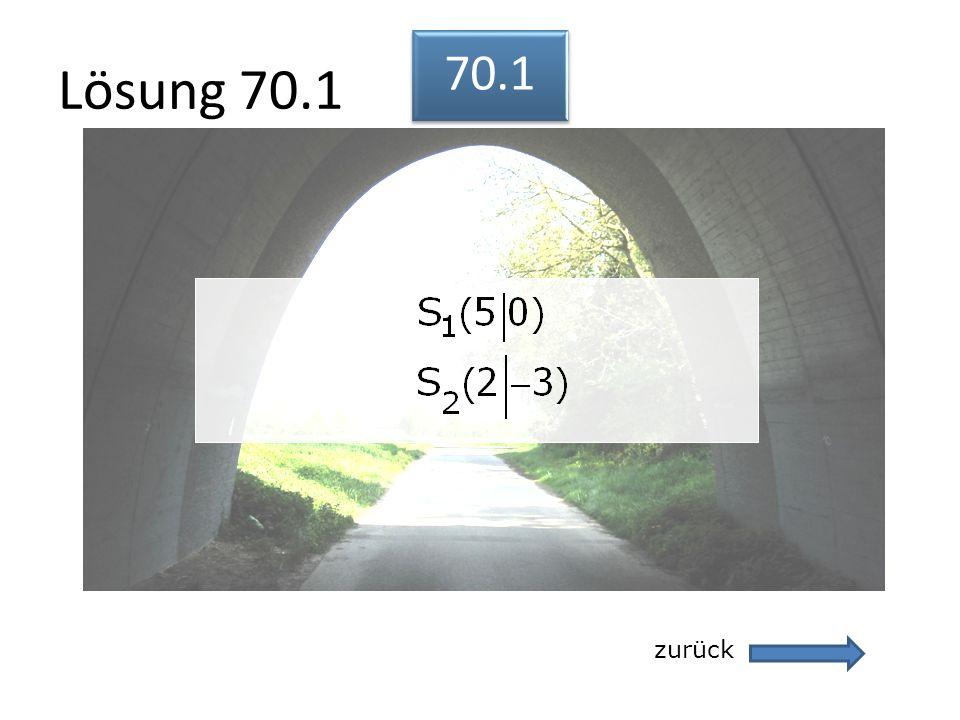 Lösung 70.1 70.1 zurück