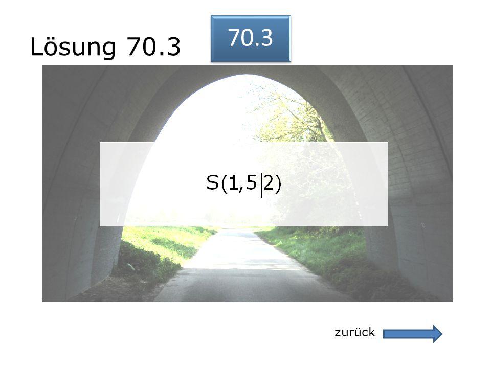 Lösung 70.3 70.3 zurück