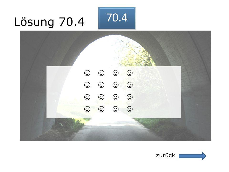 Lösung 70.4 70.4 zurück