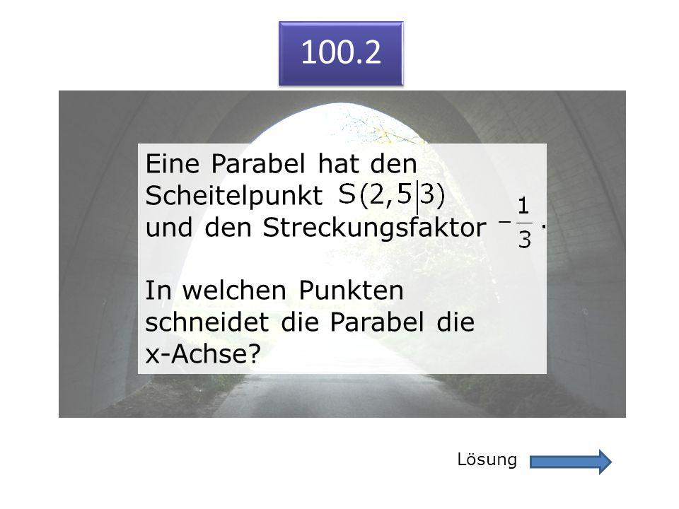 100.2 Eine Parabel hat den Scheitelpunkt und den Streckungsfaktor
