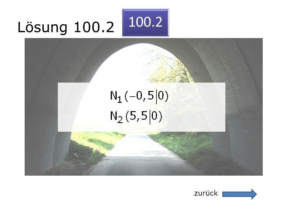 Lösung 100.2 100.2 zurück