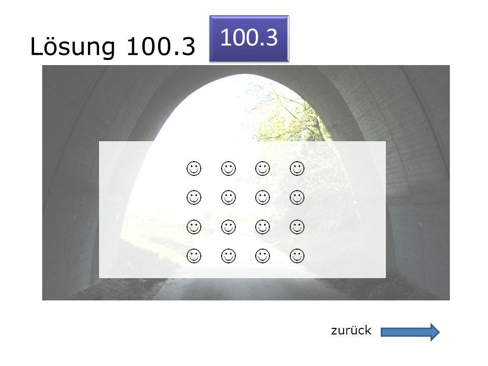 Lösung 100.3 100.3 zurück