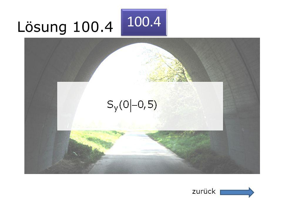 Lösung 100.4 100.4 zurück