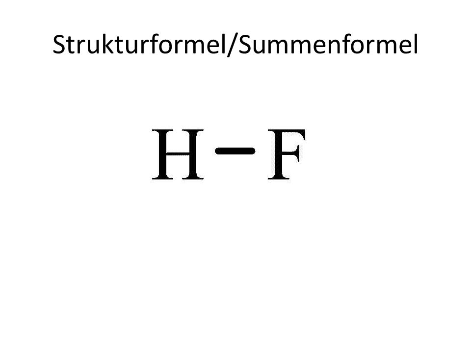 Strukturformel/Summenformel