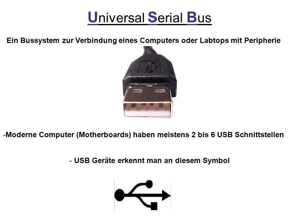 USB Geräte erkennt man an diesem Symbol