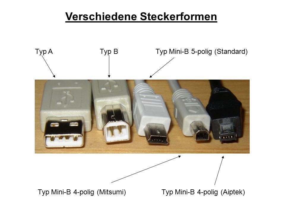 Verschiedene Steckerformen