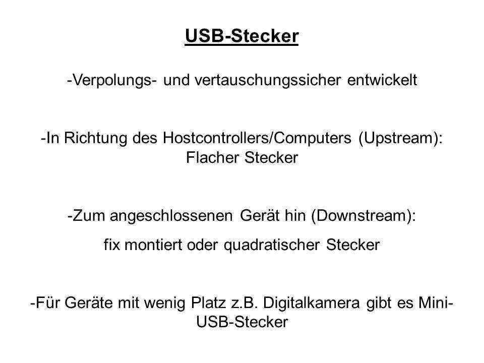USB-Stecker Verpolungs- und vertauschungssicher entwickelt