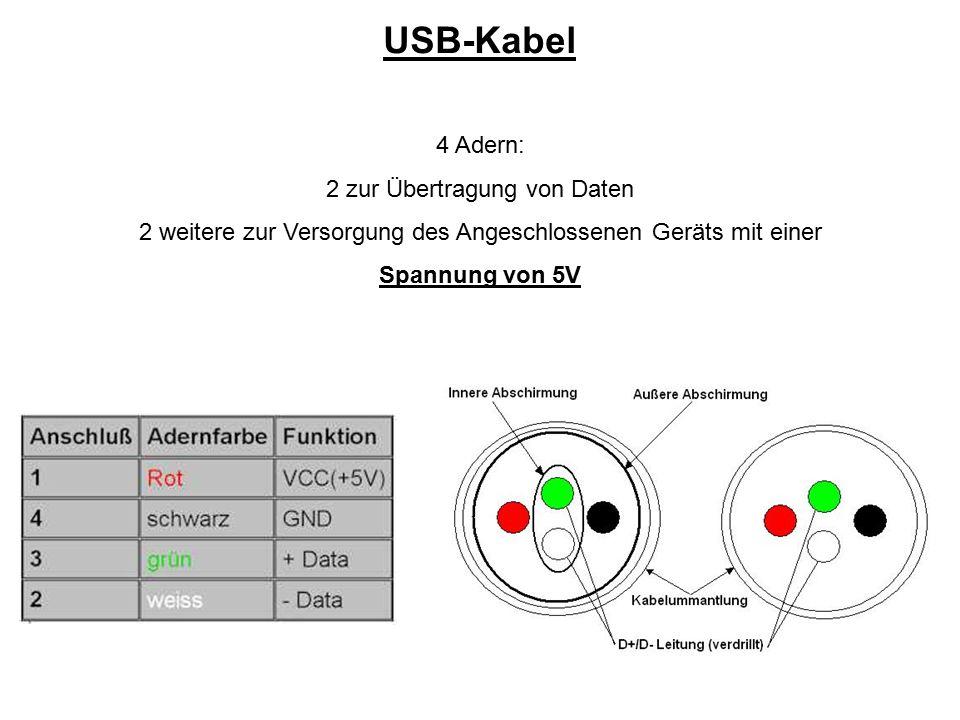 USB-Kabel 4 Adern: 2 zur Übertragung von Daten