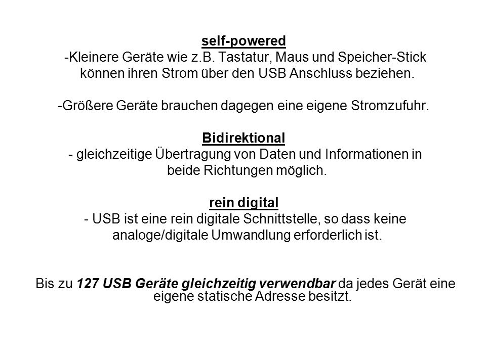 self-powered Bidirektional rein digital
