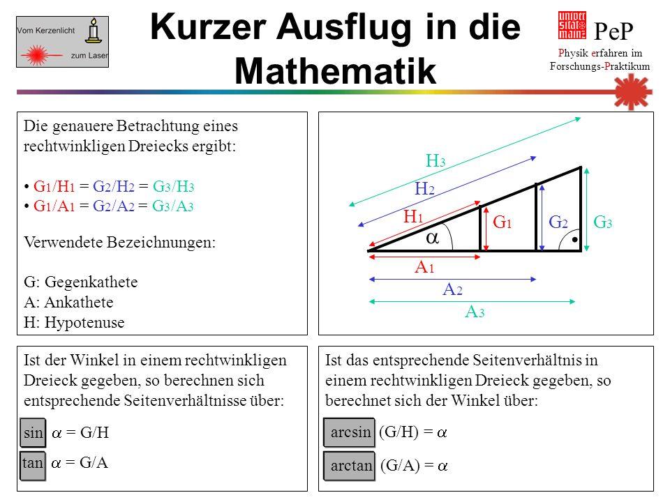 Kurzer Ausflug in die Mathematik