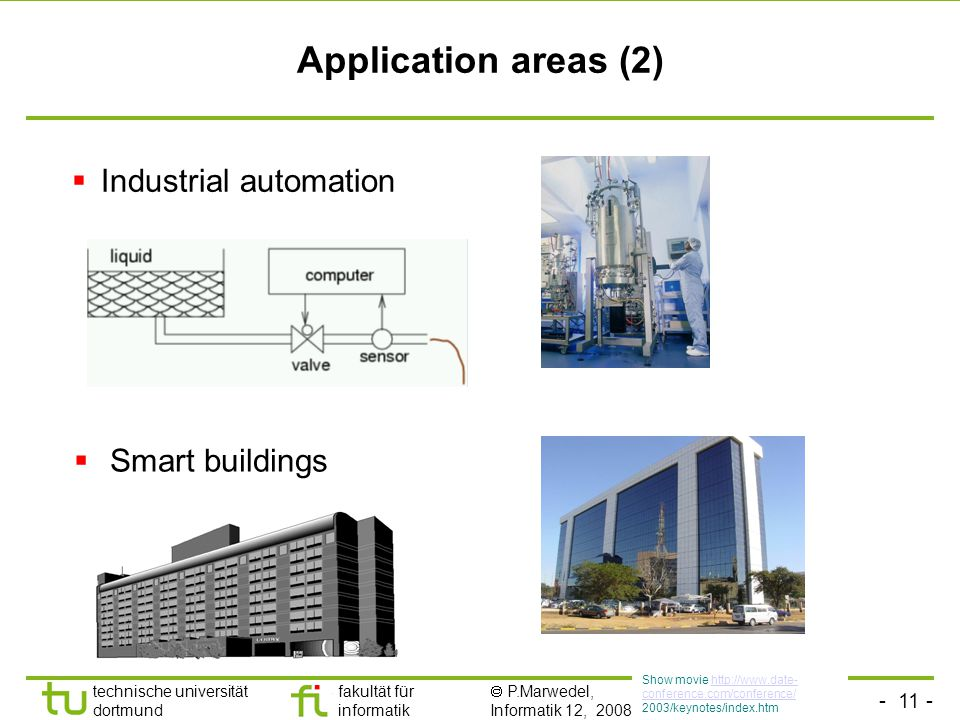 Application areas (2) Industrial automation Smart buildings